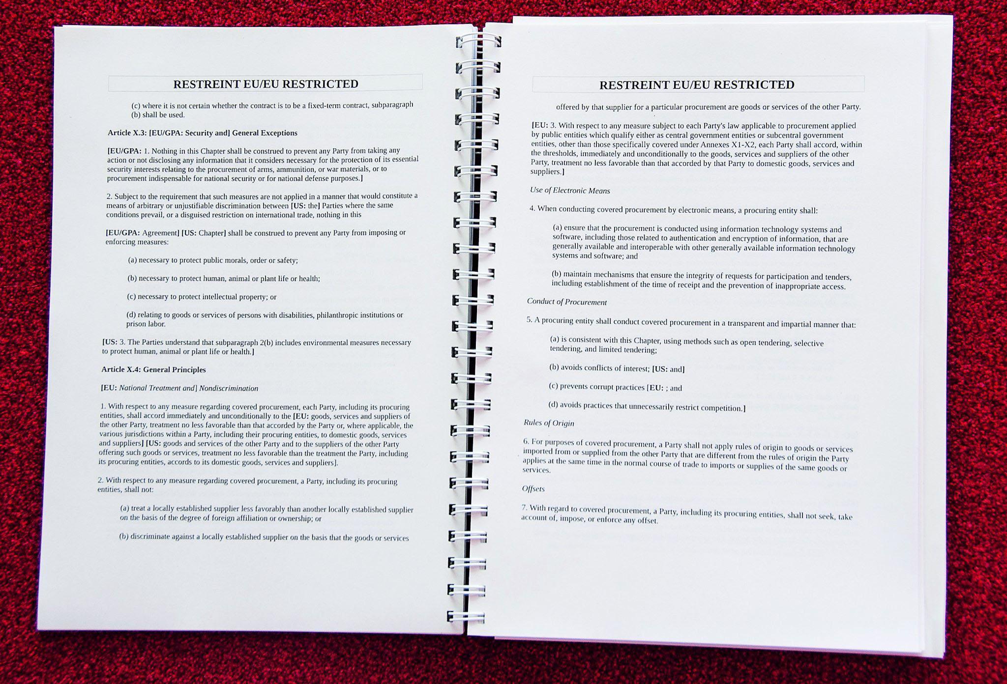 Zwei von 250 Seiten. Was in den Papieren steht ist nun endlich öffentlich.