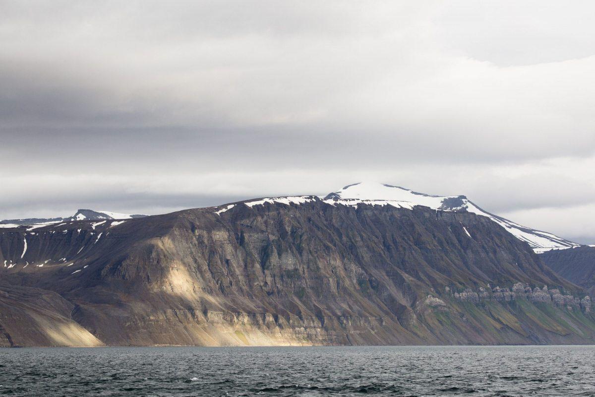 Die Küste von Spitzbergen.