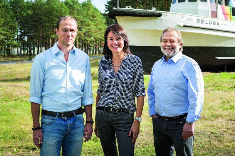 Martin Kaiser, Sweelin Heuss, Roland Hipp (von links).