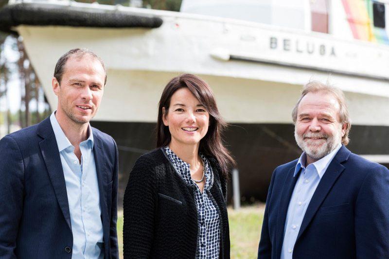 Geschäftsführung des Greenpeace e.V.: Martin Kaiser, Sweelin Heuss und Roland Hipp (von links nach rechts)