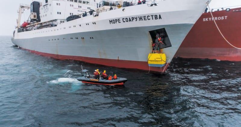 März 2018: Greenpeace-Protest gegen ukrainische Krillfischer in der Antarktis