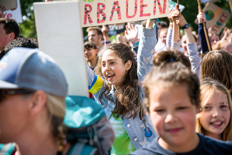 Europa, Deutschland, Hamburg, 24.05.2019. Klimaaktivistin Julia Oepen bei der Fridays for Future Demonstration in Hamburg. © 2019 Lucas Wahl
